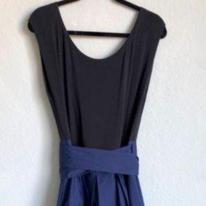 Donna Karan Couture Belted Full Skirt Dress